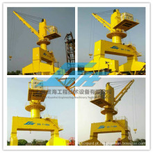 20t 7 ~ 30m Rail Tipo hidráulico Portal Crane