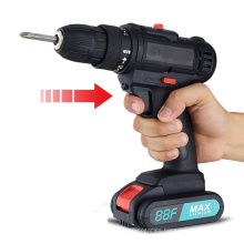 Lithium Electric Drill Two-Speed Rechargeable Drill Pistol Drill Multi-Function Household Electric Screwdriver Electric Screwdriver