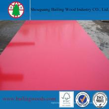 Placa de MDF brilhante melamina cor vermelha