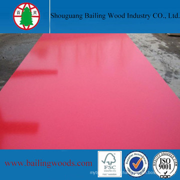 Red Color Melamine Glossy MDF Board