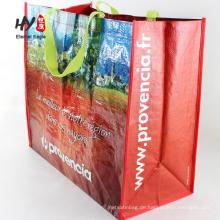 benutzerdefinierte Größe PP gesponnene Taschen für die Förderung