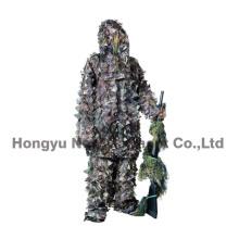 Combinaison de camouflage à la feuille 3D légère pour la chasse, militaire (HY-C006)