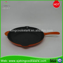 OEM manufacture sizzle plate Frying Pans cast iron skillet