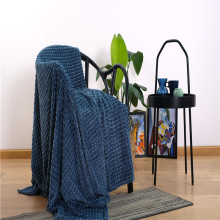 New Blue Flannel Waffle Covered Towel Bed Blanket