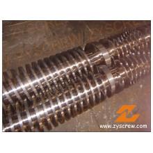 Tubo de doble husillo cónico con extrusión de tubo y perfil