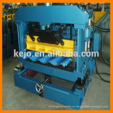 Color automático Azulejos esmaltados rodillo de acero formando máquina precio