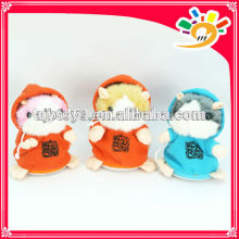 Cute recording and playback repeating talking plush hamster toys