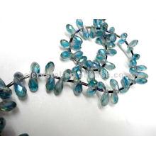 Perles d'eau turquoise