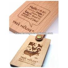 Grande tag de madeira