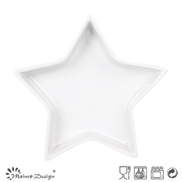 Bandeja de cerámica blanca Star Shape