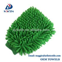 Sonderanfertigung Spezial-Mikrofaser Chenille Auto Reinigung Waschhandschuh