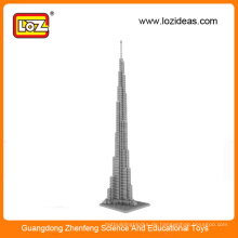 LOZ Herstellung Großhandel Diamant BausteineBurj Khalifa Tower UK Big Ben Handtuch pädagogischen Spielzeug für Kinder