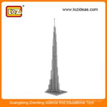LOZ Fabricação de blocos de construção de diamantes por atacadoBurj Khalifa Tower UK Big Ben towet brinquedos educativos para crianças