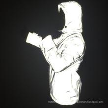Chaqueta reflectante personalizada para la seguridad de los hombres en la oscuridad