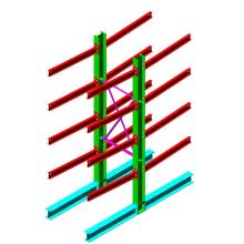 Support en porte-à-faux pour intérieur et extérieur robuste / Support en acier pour bras