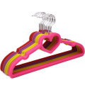 Flocked Suit Hanger with E Notches