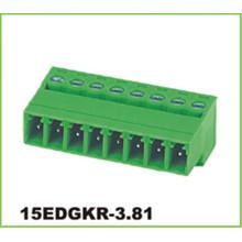 Steckbare elektrische Anschlussblöcke mit 3,81 mm Raster