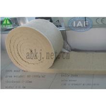 100% lã de fibra de lã de fibra de carbono de estofamento