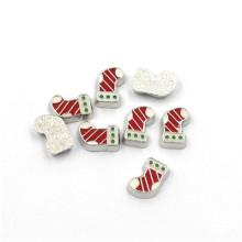 Mode 3mm-7mm Silber Metall Weihnachten schwimmende Charms
