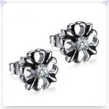 Jóias de moda Jóias de cristal Brinco de aço inoxidável (EE0253)