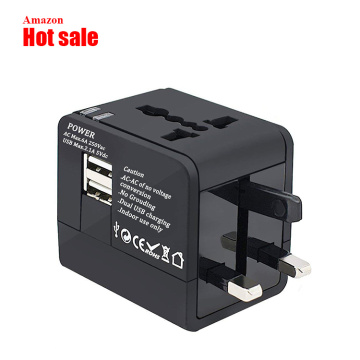 Universal Portable 2 USB  International Travel Adapter