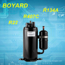 r22 refrigerant hermetic Horizontal rotary compressor for van air conditioner