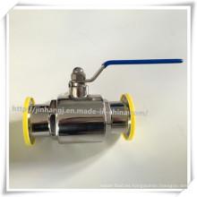 Válvula de bola manual de grado alimentario de acero inoxidable
