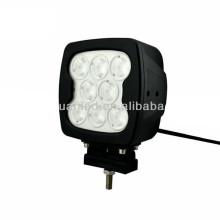 Lampe de travail tout terrain carrée à DEL de 80 watts pour la conduite de véhicules tout terrain à DEL pour SUV ATV Jeep