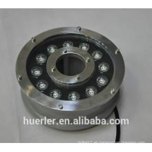 China El acuario de Huerler llevó la iluminación 3w 5w 9w 12w 18w IP68 llevó la luz subacuática 12v 24v con CE y ROHS aprobó