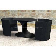 Muebles de mimbre al aire libre pila mesa PE