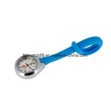 Promotinal silicona colgante enfermera Fob reloj con el movimiento de Japón