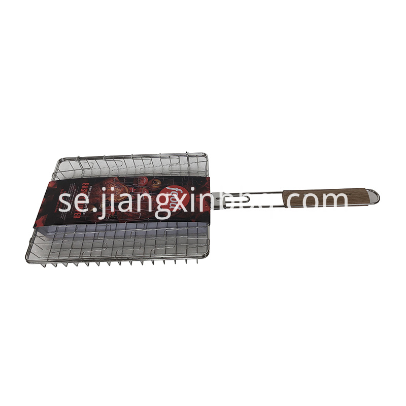 Grilling Multi Use Basket Flipper With Wood Handle