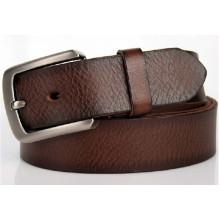 Brown col von 38mm Breite heißer Verkauf Man's echtes Leder Gürtel