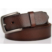 Brown col of 38mm width hot sale Man's genuine leather belt