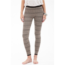 Geo Stripe Leggings with Elasticized Waist