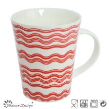 Nouvelle tasse de café de porcelaine de 12oz avec la décalcomanie
