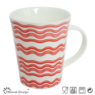 12 oz nouvelle tasse de café en porcelaine avec décalque