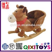 Haute qualité en peluche cheval à bascule hippopotame en gros