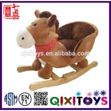 High quality plush hippo rocking horse wholesale