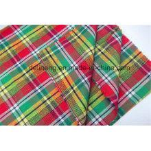 Günstige Großhandel Mode-Checks Garn gefärbt Bekleidung Stoff