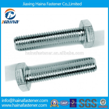 Made in China Carbon Steel Galvanized, zinc plated Metric Hex Bolt Gr 8.8