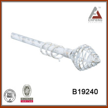 B19240 home decorating curtain rods, double curtain rod set,metal curtain rod finial