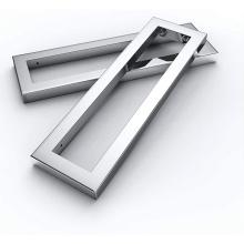 Support de support de meuble-lavabo rectangulaire en acier inoxydable