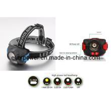 3AAA CREE 3W Plastic LED Headlamp for Outdoor (HL-1021)