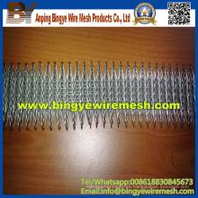 Valla de enlace de cadena galvanizada (malla de alambre de diamante)