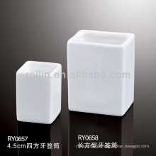 Saudável, durável, branca, porcelana, forno, seguro, retangular, toothpick