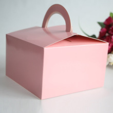 pink colored cake box