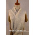 Nouveau design écharpe / châle tricotée à 2 tons