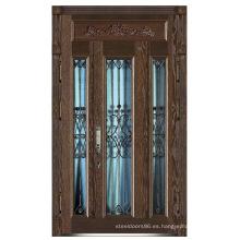 Puerta de acero inoxidable blindada puerta de China proveedor (D4016)