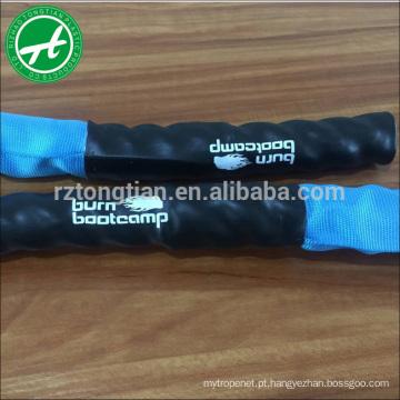 Cordas de batalha cobertas com nylon de alta qualidade para GYM
